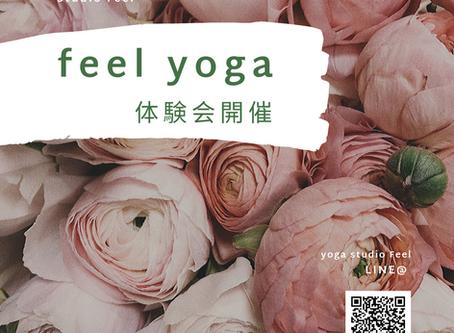 feel yoga 体験会開催