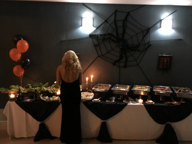 Hallowen buffet.