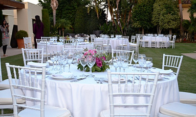 King BBQ Catering Marbella set up