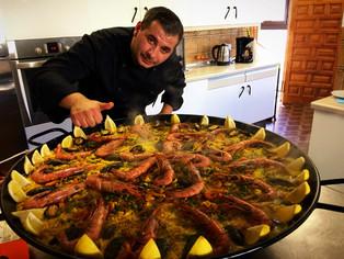 Sea food paella.
