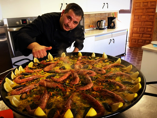 Sea food paella.