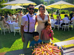 Wedding paella starter.