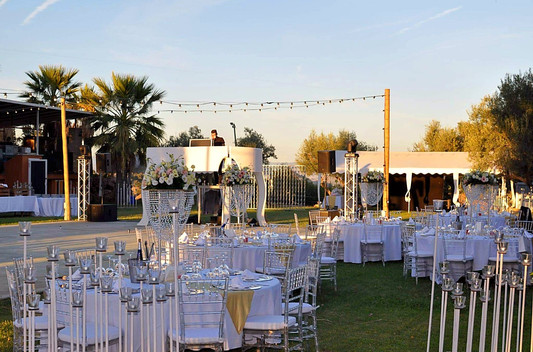 Wedding set up and decoration.