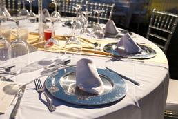 Wedding silver set up