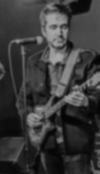 John Lennon Tribute UK, John Brunsdon on lead guitar.