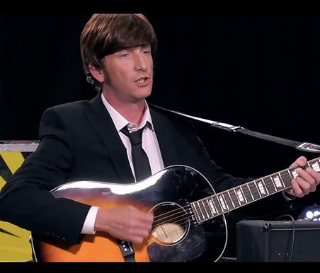 Gaz Keenan of John Lennon Tribute appearing on ITV's The Big Audition