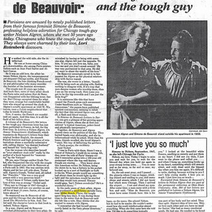 """""""Algren and de Beauvoir: The Feminist and the Tough Guy"""""""