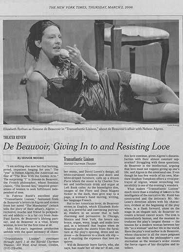 """De Beauvoir, Giving In to and Resisting Love"""