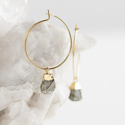Bella Earrings-Labradorite