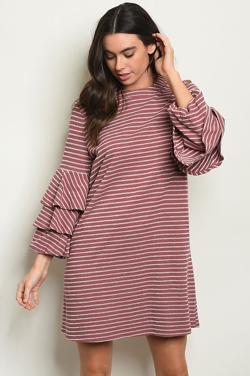 Mauve Stripes Dress