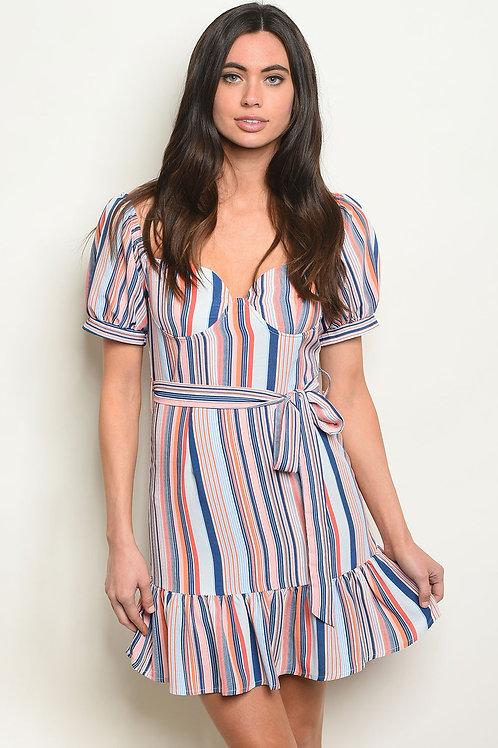 Womens Multi Stripes Dress