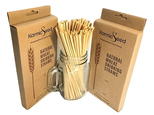 Natural Wheat Drinking Straws (500 STRAWS) - FREE US Shipping