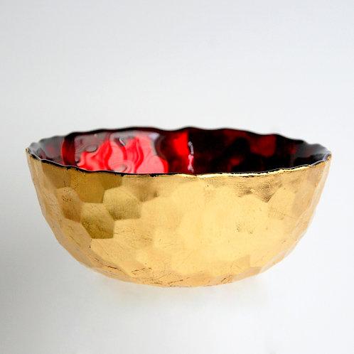 "HIVE 6"" Ruby/Gold Bowl"