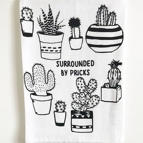 Surrounded by Pricks Cotton Kitchen Towel
