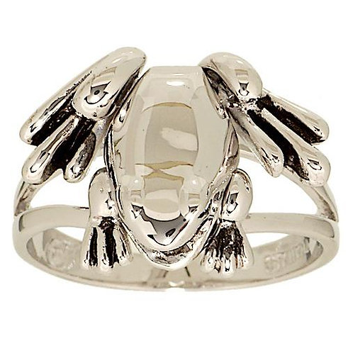 Polished Frog Ring with Moveable Legs