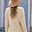 Thumbnail: Deep V-neck Long Sleeve Knit