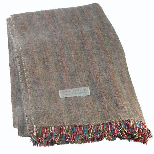 100% Alpaca Full Blanket in Mink