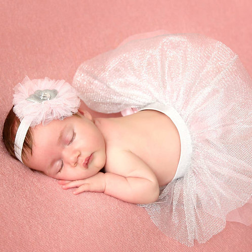 Princess Pink Tutu Skirt Newborn Baby Girl Headband