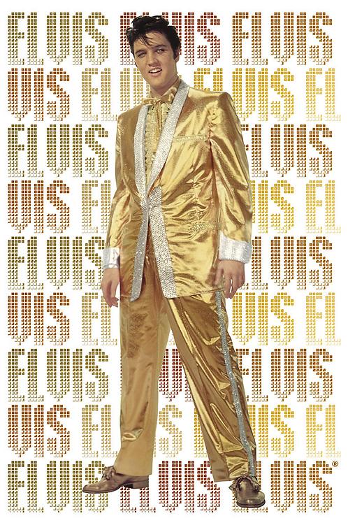 Elvis Prelsey- Pure Gold - Regular Poster