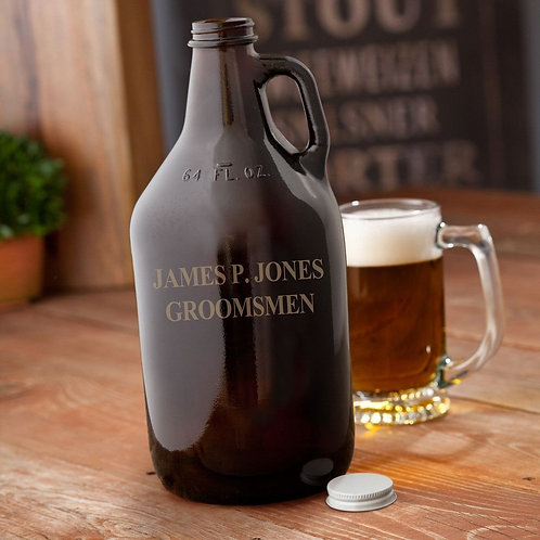 Amber Growler - Personalized - 64 oz.