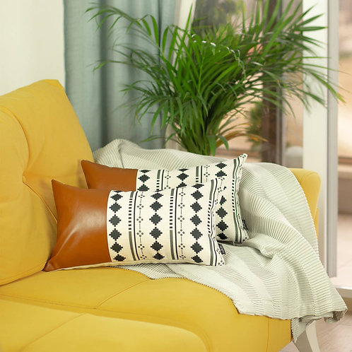 Leather Throw Pillow Cover (Set of 2)