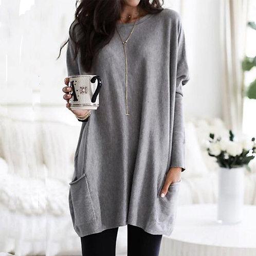 Tunic Womens Top Casual Long Sleeve