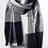 Thumbnail: Black & Gray Plaid Waffle Style Knit Blanket Scarf