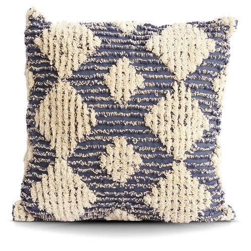 Mid Century Modern Blue Cotton Pillow Cover Only No Insert