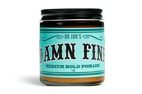 """Dr. Jon's """"Damn Fine"""" Medium Hold Vegan Pomade 4oz Jar"""