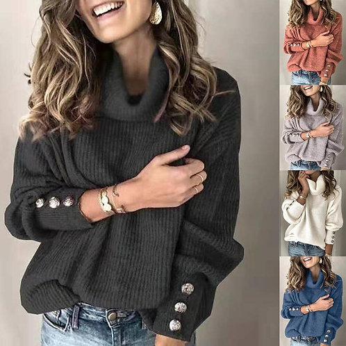 Turtleneck Sweater Pullover Long Sleeve Knit