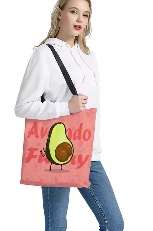 Avocado Funny Cloth Tote Bag