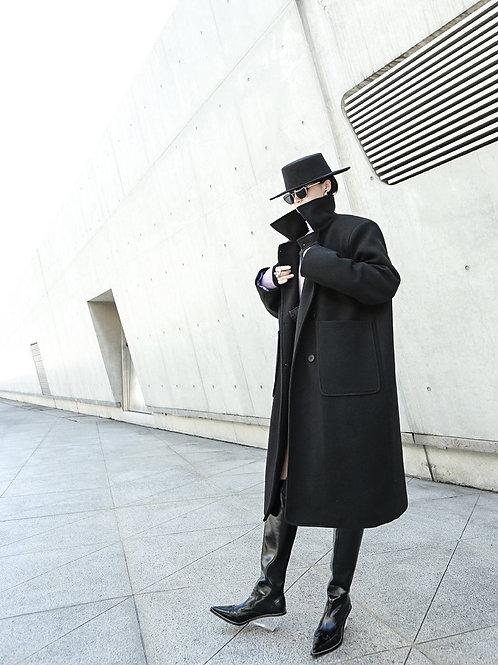 Tokuko Button Long Sleeve Coat