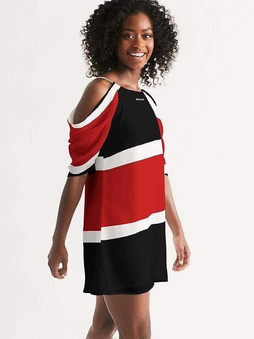 Wakerlook Women's Open Shoulder A-Line Dress