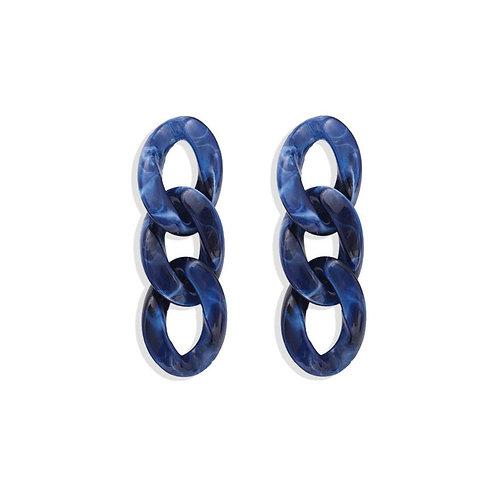 Acrylic Chain Links- Blue