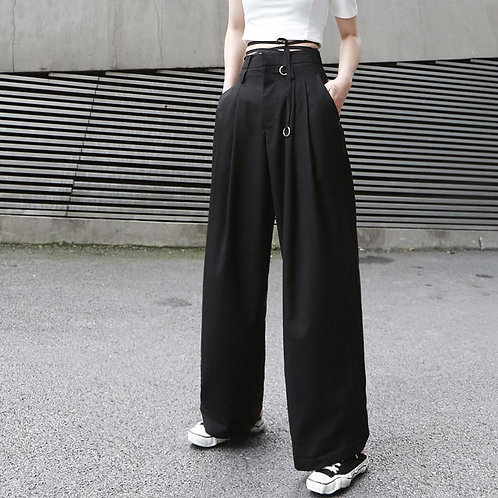 Mariya High Waist Long Wide Leg Pants