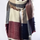 Thumbnail: Burgundy & Blue Plaid Waffle Style Knit Blanket Scarf