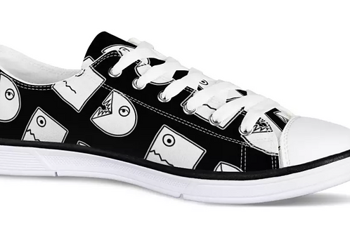 Chasing Funny Pattern Low Top Canvas Shoe (Men's and Women's)