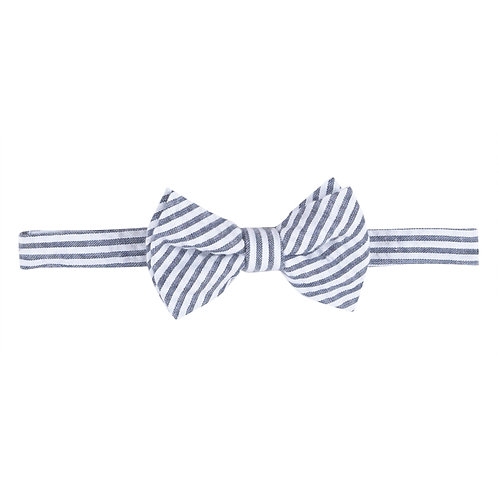Blue Seersucker Bowtie