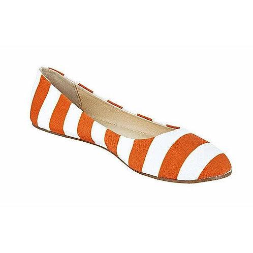 Burnt Orange and White Flats