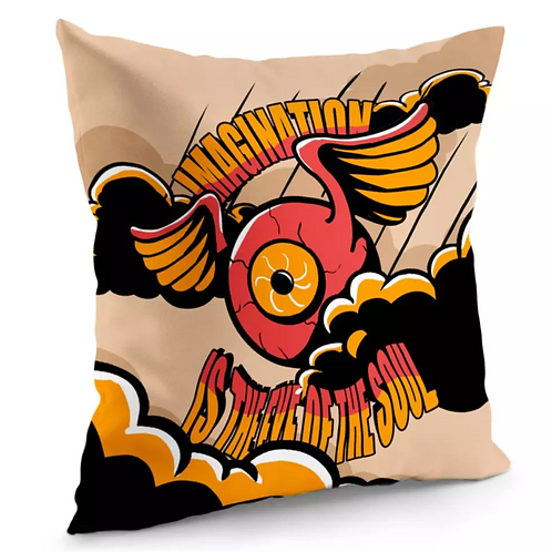 Eyes And Clouds And Wings And Flying Pillow Cover