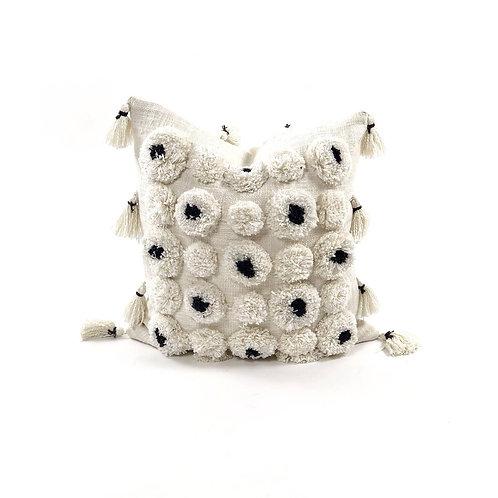 Advik Handmade Designer Pom Pom Pillow