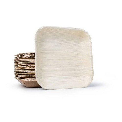 """Palm Leaf Square Plates 6"""" Inch (Set of 100/50/25) - FREE US Shipping"""