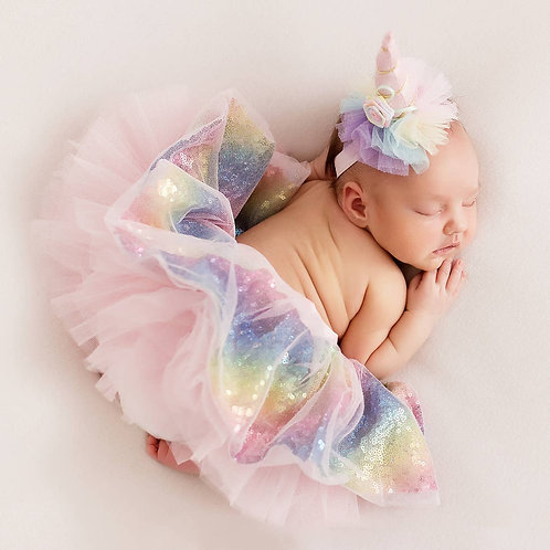 Tutu Skirt Unicorn Newborn Baby Girl Tutu Set