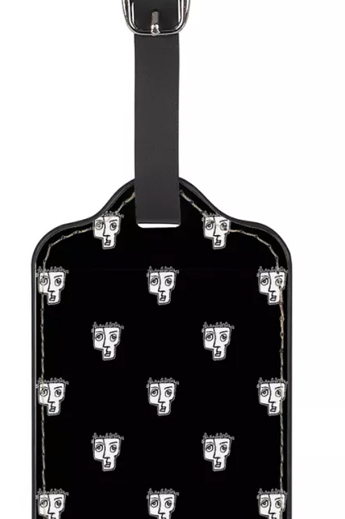 Man Head Caricature Luggage Tag