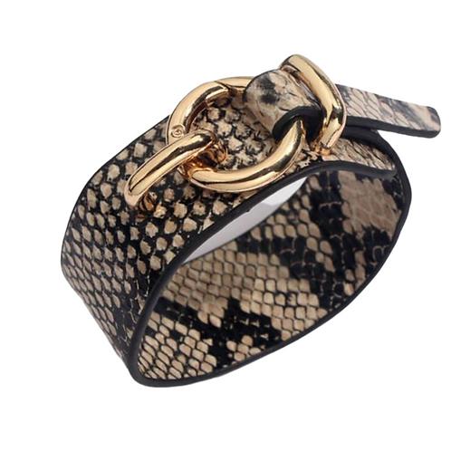 Round Lock Bracelet -Cream