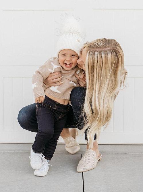 Rebecca Mommy & Me Sweater - Tan Star