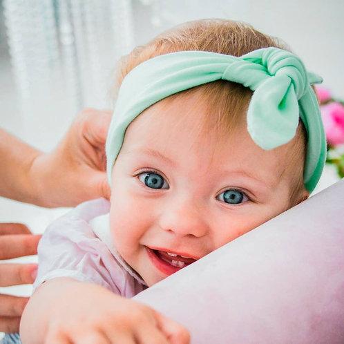 Cotton Knotted Newborn Baby Girl Headbands 10 Pcs Set