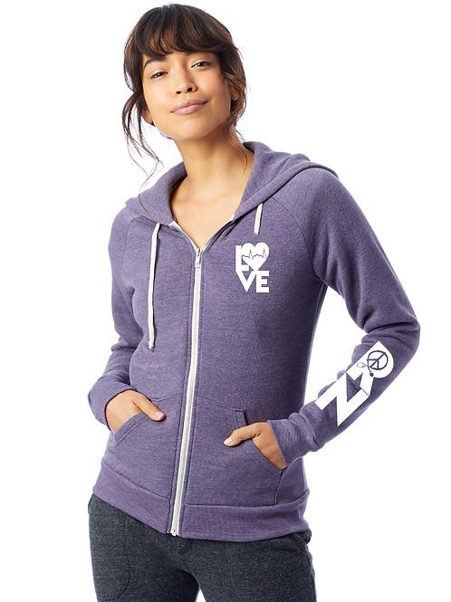 New True Deep Purple Love RN women's hoodie