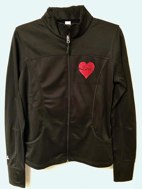 New Love Heal Glitter women's collared jacket