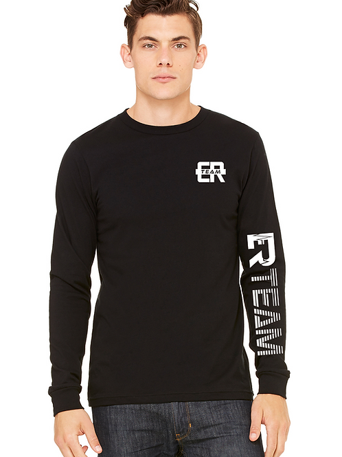 ER Black unisex long sleeve tee